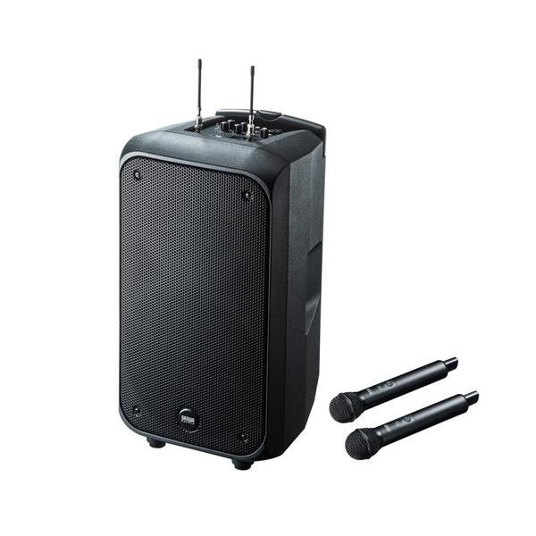 訳あり新品 拡声器スピーカー ワイヤレスマイク付き 大型 箱にキズ、汚れあり MM-SPAMP8 サンワサプライ