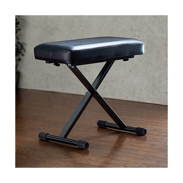 ピアノ椅子キーボードベンチハイスツールクッション高さ調節折りたたみ背もたれなし軽量脚キャップおすすめEEX-CH72