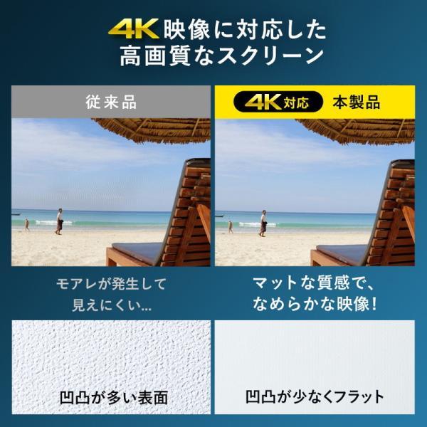 プロジェクタースクリーン 120インチワイド 4K 高解像度 フルハイビジョン 吊り下げ 天吊 壁掛け ロール スプリング 手動 16:9 EEX-PST3-120HDK ネコポス非対応