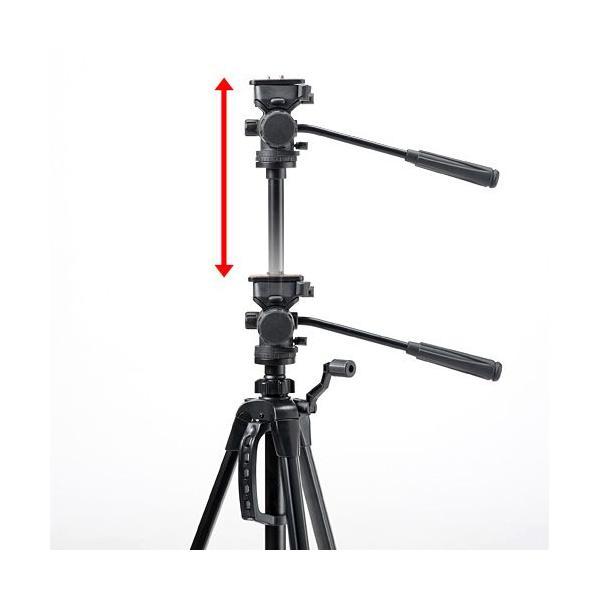 三脚 デジカメ・一眼レフ・ビデオカメラ対応 三段階伸縮 EZ2-CAM016 ネコポス非対応