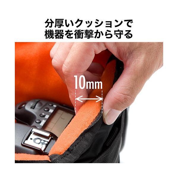 値下げ カメラバッグ インナーバッグ ショルダーベルト付 一眼レフ・ ビデオカメラ・交換レンズ収納 保管 Lサイズ ブラック  EZ2-DGBG014BK ネコポス非対応