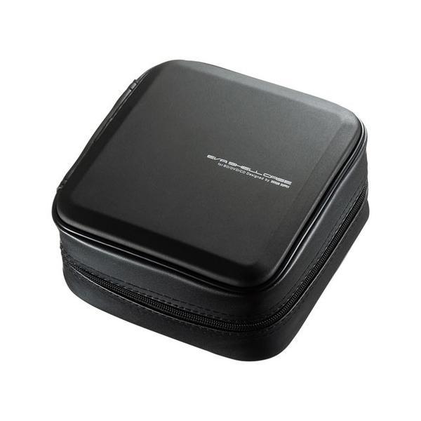 ブルーレイディスク対応セミハードケース 60枚収納 ファスナーつき EVA ブラック FCD-WLBD60BK サンワサプライ