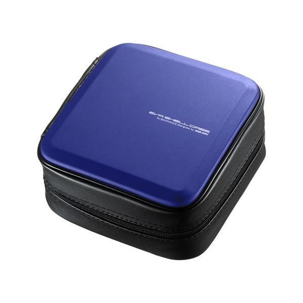 ブルーレイディスク対応セミハードケース 60枚収納 ファスナーつき EVA ブルー FCD-WLBD60BL サンワサプライ