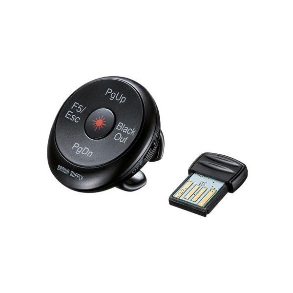 パワーポインター フィンガープレゼンター ワイヤレス USB充電式 LP-RF114BK サンワサプライ ネコポス非対応