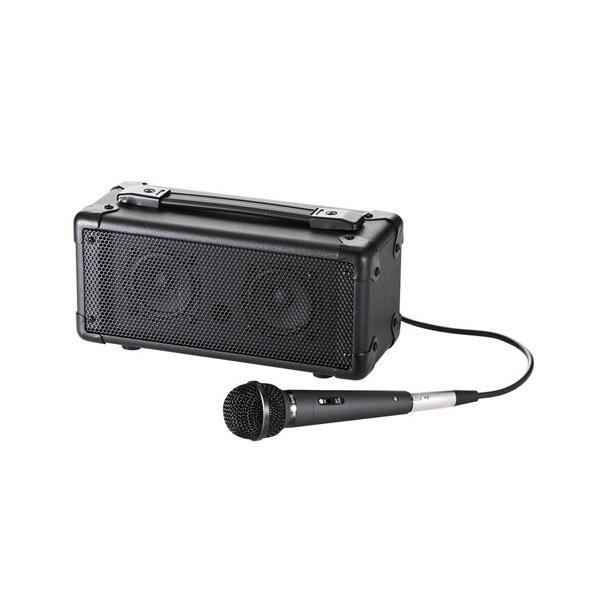 拡声器スピーカー 有線マイク付  Bluetooth対応 ワイヤレス 音楽再生 スマホ・タブレット対応 MM-SPAMPBT サンワサプライ