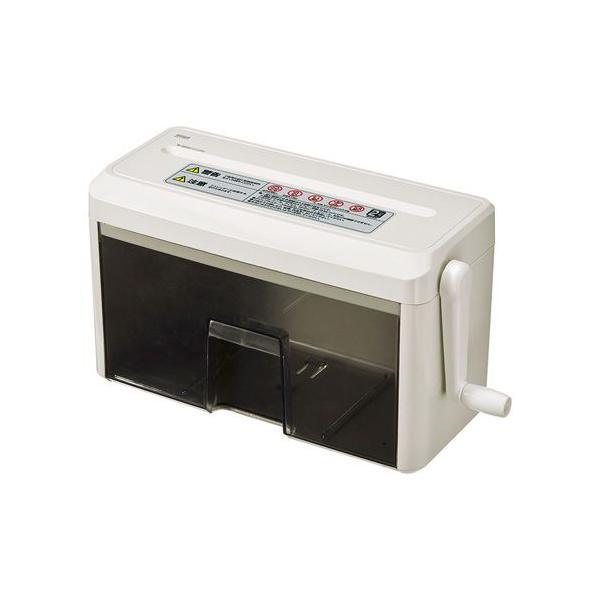 ハンドシュレッダー 手動 クロスカット  PSD-MC2223 サンワサプライ