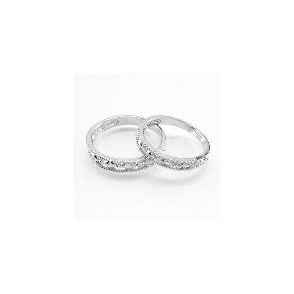 ペアリング ゴールド 18k ダイヤモンド 指輪 マリッジリング 結婚指輪 アンティーク K18