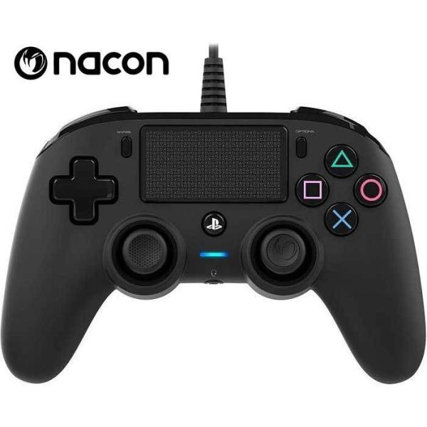新品 NaconナコンPS4コントローラーブラック有線コントローラー