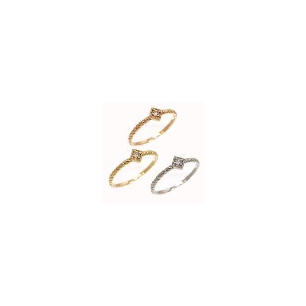 ピンキーリング ダイヤモンド リング k18ゴールド 指輪 レディース ジュエリー アクセサリー ホワイトデー お返し プレゼント