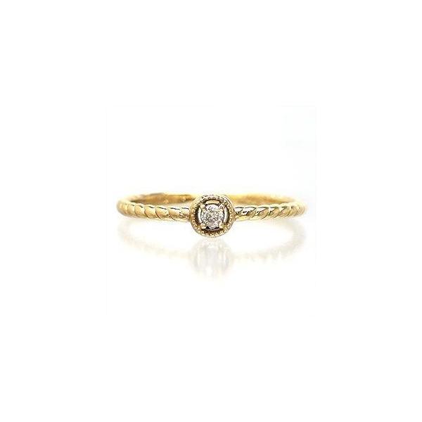 ピンキーリング ダイヤモンド リング k18ゴールド 一粒 指輪 レディース ジュエリー アクセサリー ホワイトデー お返し プレゼント