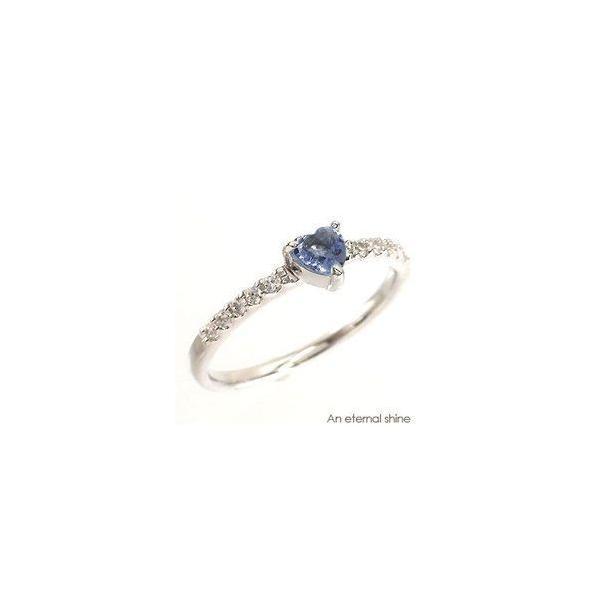 ピンキーリング ハート タンザナイト 12月誕生石 ダイヤモンド プラチナ900 pt900 リング 指輪 一粒 ハートシェイプ レディース|eternally