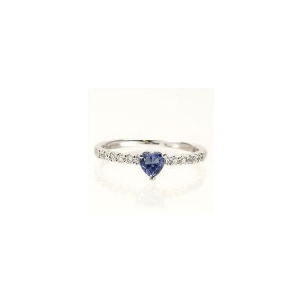 ピンキーリング ハート タンザナイト 12月誕生石 ダイヤモンド プラチナ900 pt900 リング 指輪 一粒 ハートシェイプ レディース|eternally|02