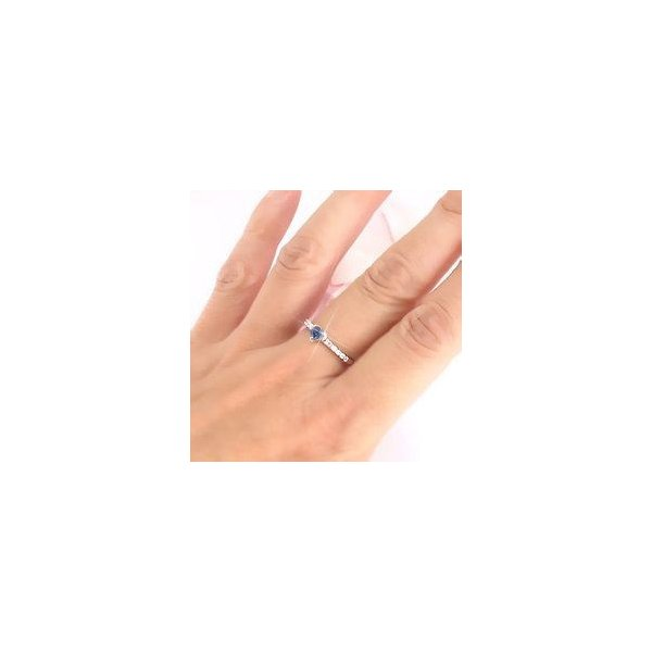 ピンキーリング ハート タンザナイト 12月誕生石 ダイヤモンド プラチナ900 pt900 リング 指輪 一粒 ハートシェイプ レディース|eternally|03