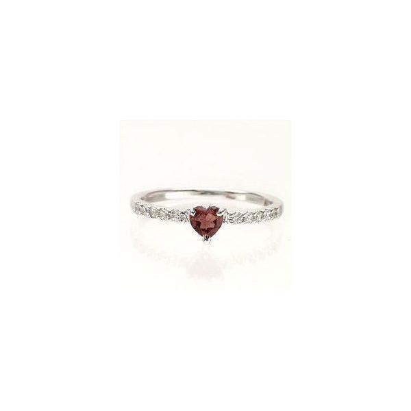 ピンキーリング ハート ガーネット ダイヤモンド プラチナ900 リング 指輪 一粒 ハートシェイプ レディース アクセサリー ホワイトデー お返し プレゼント