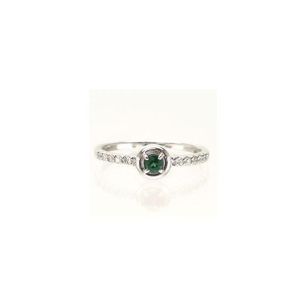 ピンキーリング 一粒 グリーンクオーツ ダイヤモンド プラチナ900 指輪 レディース ジュエリー アクセサリー ホワイトデー お返し プレゼント