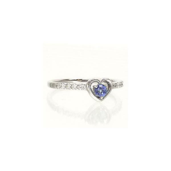 タンザナイト 12月誕生石 ダイヤモンド プラチナ900 pt900 指輪 ピンキーリング ハート 一粒 レディース アクセサリー|eternally|02