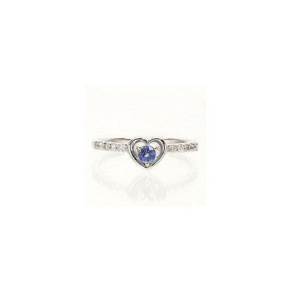 タンザナイト 12月誕生石 ダイヤモンド プラチナ900 pt900 指輪 ピンキーリング ハート 一粒 レディース アクセサリー|eternally|03