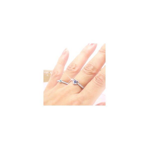 タンザナイト 12月誕生石 ダイヤモンド プラチナ900 pt900 指輪 ピンキーリング ハート 一粒 レディース アクセサリー|eternally|04