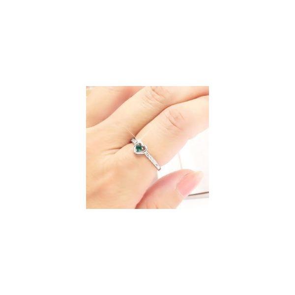 ピンキーリング ハート グリーンクオーツ ダイヤ プラチナ900 指輪 一粒 レディース ジュエリー アクセサリー ホワイトデー お返し プレゼント