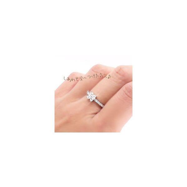 ピンキーリング クローバー ダイヤ 0.34ct リング 指輪 四葉 よつば ダイヤモンド k18ゴールド 18金 レディース ホワイトデー お返し プレゼント