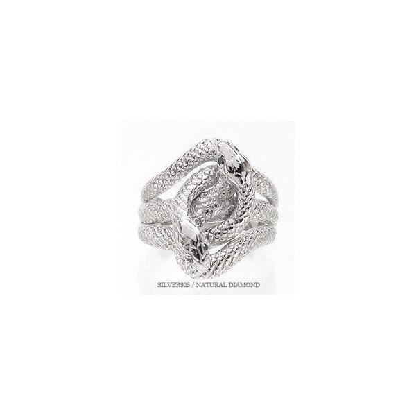 指輪 蛇 へび スネーク ダイヤモンド ブルーダイヤモンド 0.04ct シルバー925 リング レディース ジュエリー アクセサリー eternally