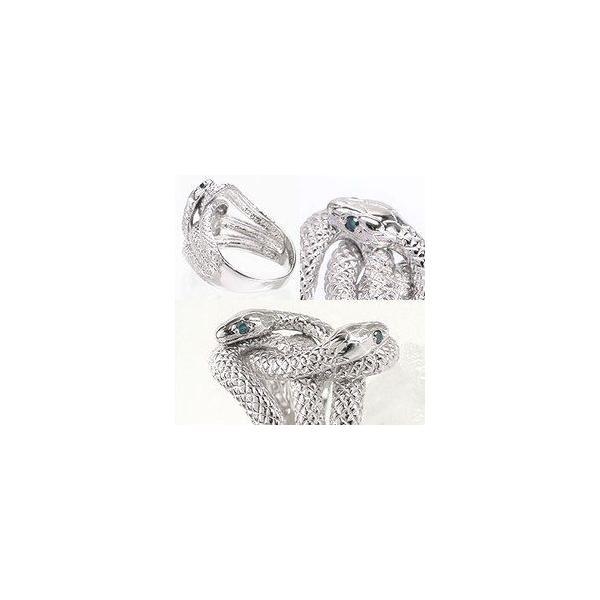 指輪 蛇 へび スネーク ダイヤモンド ブルーダイヤモンド 0.04ct シルバー925 リング レディース ジュエリー アクセサリー eternally 02
