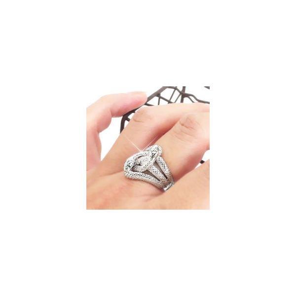 指輪 蛇 へび スネーク ダイヤモンド ブルーダイヤモンド 0.04ct シルバー925 リング レディース ジュエリー アクセサリー eternally 04