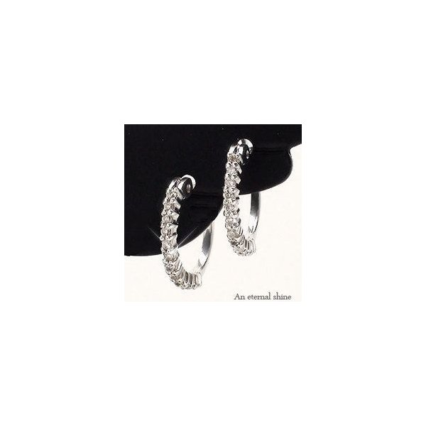フープピアス プラチナ900 pt900 ダイヤモンド ダイヤピアス エタニティピアス レディース ジュエリー アクセサリー