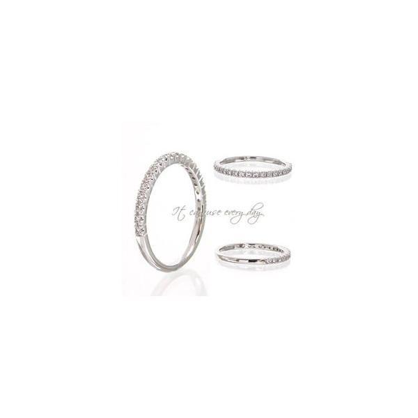 プラチナ900 pt900 ダイヤモンド リング ハーフエタニティリング 0.2ct ピンキーリング 指輪 レディース アクセサリー|eternally|02