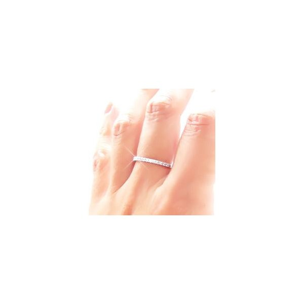 プラチナ900 pt900 ダイヤモンド リング ハーフエタニティリング 0.2ct ピンキーリング 指輪 レディース アクセサリー|eternally|03