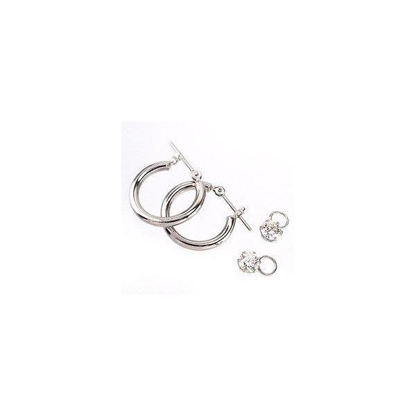 一粒 ダイヤ フープピアス ソリティア ダイヤモンド 0.5ct プラチナ900 チャーム パイプ2mm*15mm レディース ホワイトデー お返し プレゼント