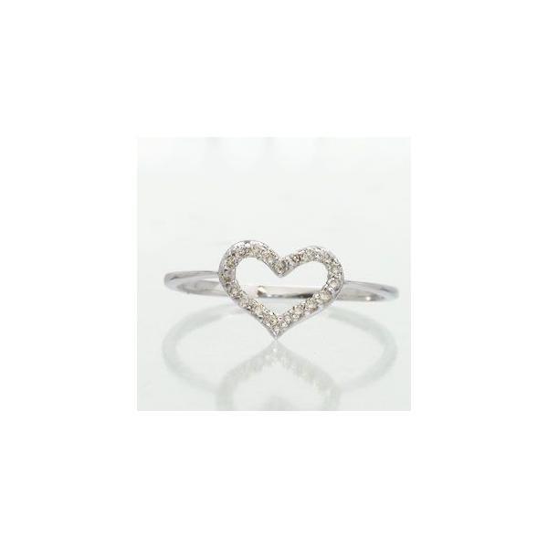 ピンキーリング ハート ダイヤモンド リング ダイヤ 0.10ct レディース ジュエリー アクセサリー ホワイトデー お返し プレゼント