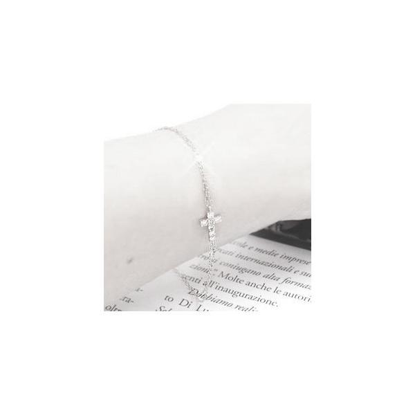 ダイヤモンドブレスレット クロス 十字架 0.15ct プラチナ900 PT900 リバーシブルタイプ レディース アクセサリー ホワイトデー お返し プレゼント