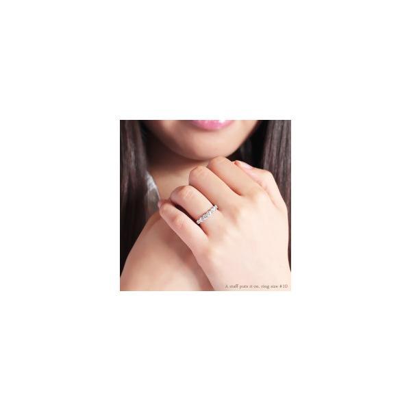 指輪 ダイヤモンド ハーフエタニティリング 0.75ct プラチナ900 pt900 SIクラス 大粒 リング レディース アクセサリー|eternally|02