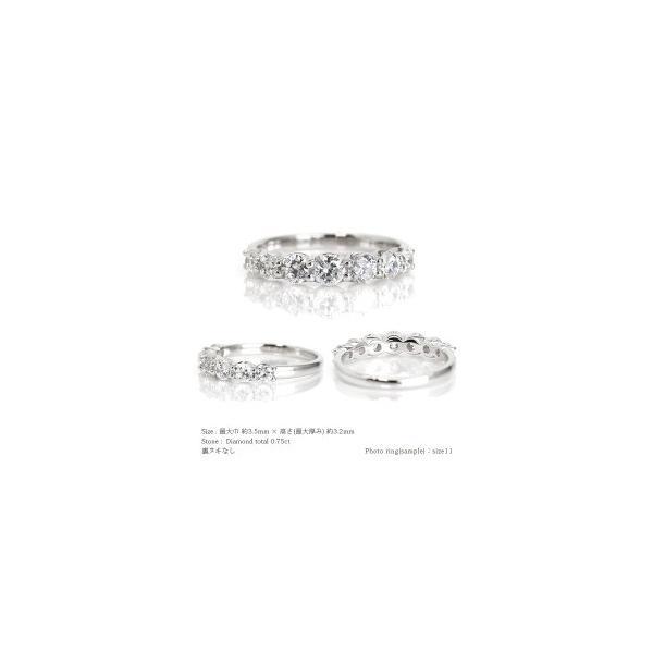 指輪 ダイヤモンド ハーフエタニティリング 0.75ct プラチナ900 pt900 SIクラス 大粒 リング レディース アクセサリー|eternally|03