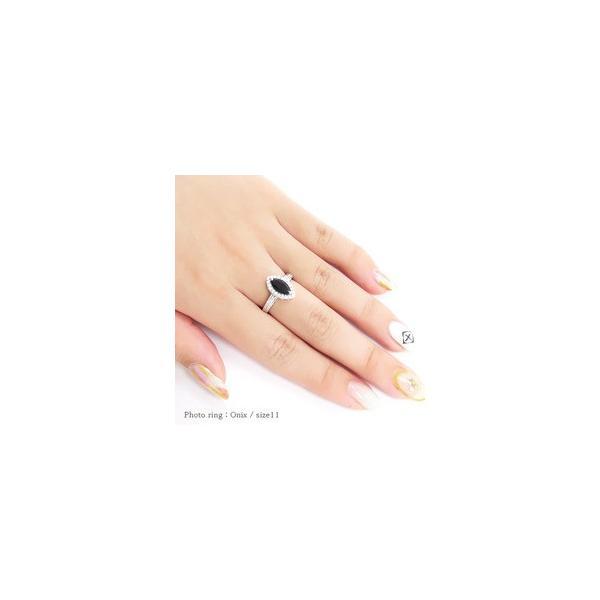 k18ゴールド ダイヤモンド リング 0.27ct カラーストーン 指輪 マーキスカット 18金 誕生石 取り巻き レディース|eternally|02