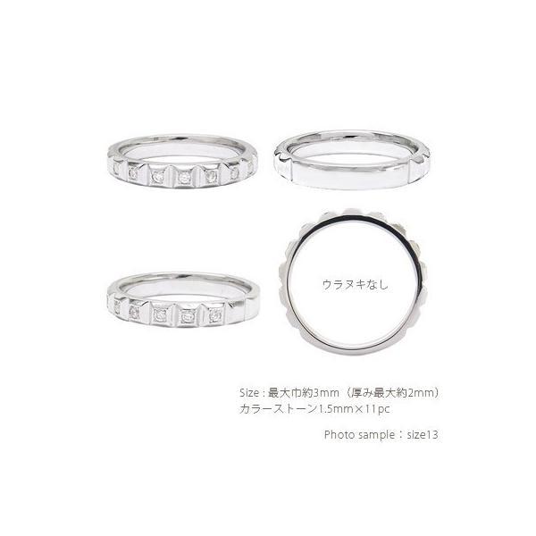 ハーフエタニティリング カラーストーンリング 18金 k18ゴールド 誕生石 指輪 レディース ジュエリー アクセサリー|eternally|02