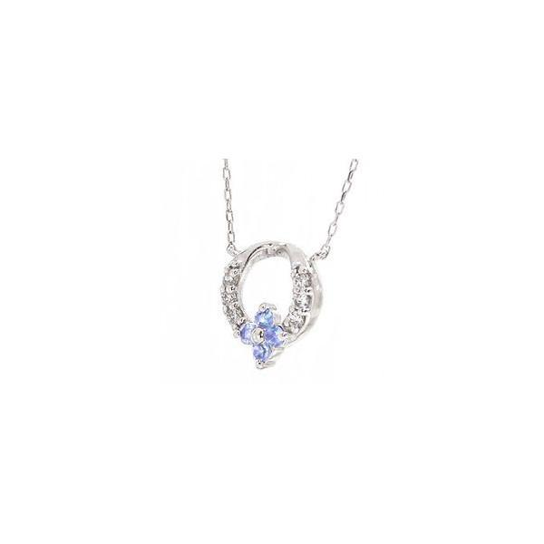 タンザナイト 12月誕生石 フラワー ネックレス プラチナ900 pt900 ダイヤモンド 0.06ct ペンダント リース 花 レディース|eternally|02