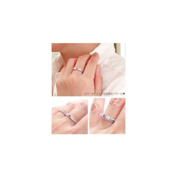 ピンキーリング カラーストーンリボンリング ダイヤモンド 0.20ct プラチナ900 指輪 小指 レディース アクセサリー ホワイトデー お返し プレゼント