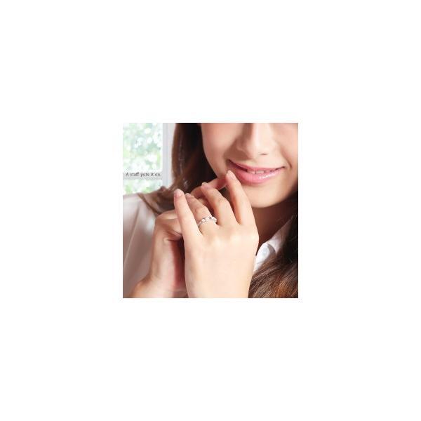 k18 リボンリング ダイヤモンド 0.2ct ダブルリボン 18金 誕生石 ピンキーリング 指輪 ミル打ち レディース|eternally|02