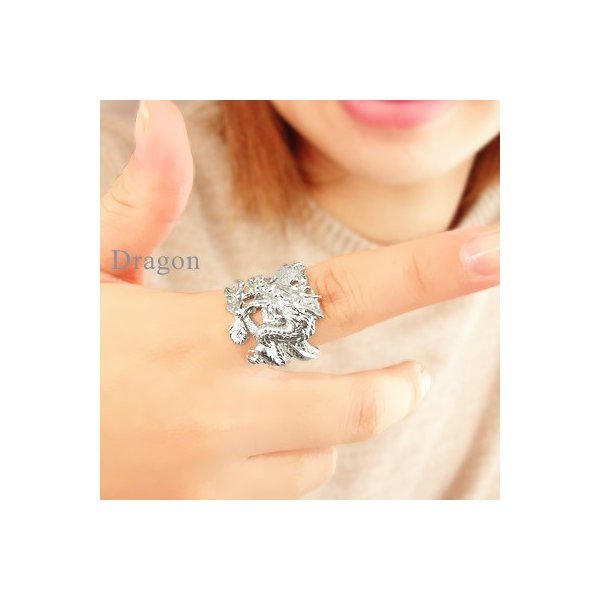 龍ドラゴンリング プラチナ900 指輪 男女兼用 メンズ レディース ジュエリー アクセサリー ホワイトデー お返し プレゼント