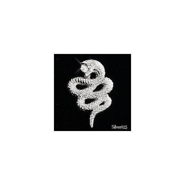 タイニーピン ラベルピン ピンバッジ ブローチ シルバー925 蛇 スネーク へび メンズ 男女兼用 レディース ジュエリー アクセサリー