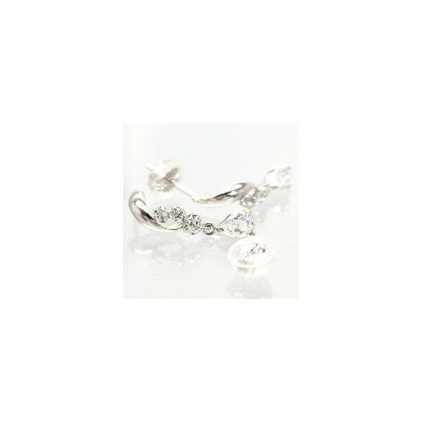 ロングピアス キュービックジルコニア k14ホワイトゴールド レディース ジュエリー アクセサリー ホワイトデー お返し プレゼント