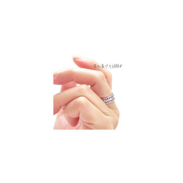 フルエタニティリング プラチナ900 pt900 指輪 カラーストーン レディース ジュエリー アクセサリー|eternally|02