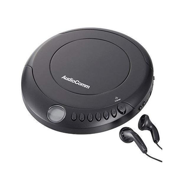 AudioComm ポータブルCDプレーヤー280 ブラック 品番07-8883 CDP-280N-K