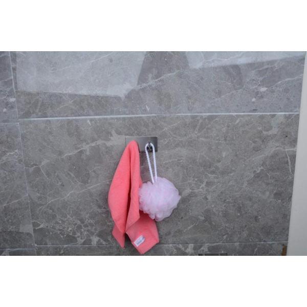 ウォールフック3Mキーコートタオル用接着剤防水ステンレススチール壁掛けキッチン用浴室用トイレ、ドリルなしねじなし