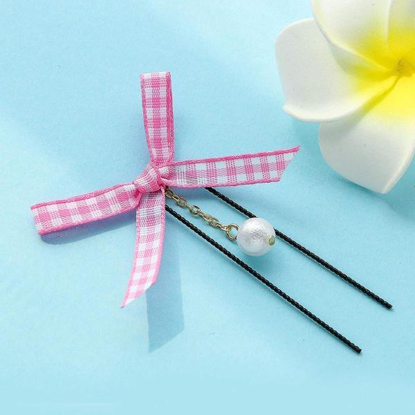 Yean 簪 黒 かんざし 合金 セット ティアラ アクセサリー 二本 髪飾り ジュエリー 和装 留袖 シンプル