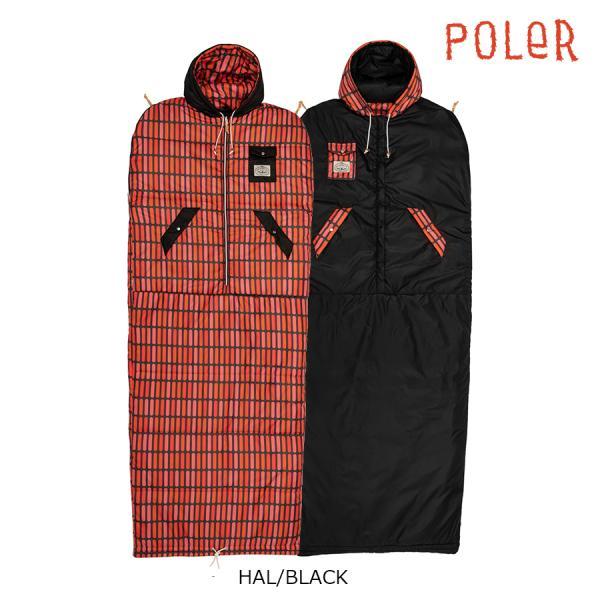 POLER THE REVERSIBLE NAPSACK HAL/BLACK ポーラー 寝袋 シュラフ リバーシブル 動ける寝袋 キャンプ用品 正規取扱店