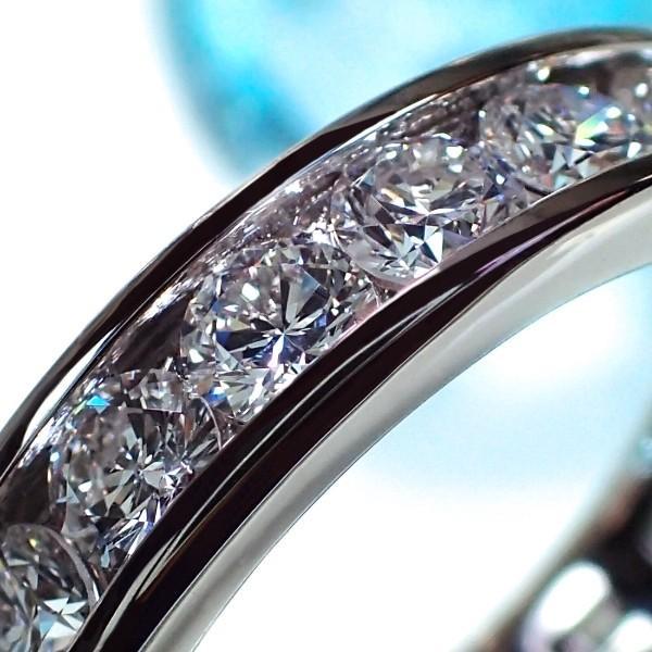[e389032]Pt900ダイヤモンド フルエタニティリング 2.52Ct・11〜13(VS) レール留め ハイクオリティ プラチナダイヤモンド マリッジリング 結婚指輪 高品質 (E)