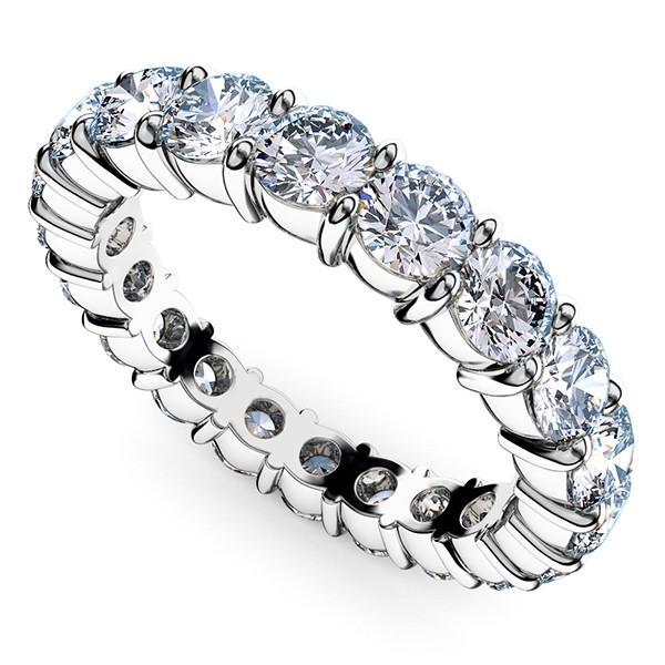 [e388-191]Pt900ダイヤモンド フルエタニティリング1.90Ct[直径3.0mm x 19Pc] 4〜7号 (HC 爪留めタイプ!婚約指輪・結婚指輪にも!